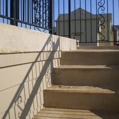 Concrete Steps Leading to Raised Concrete Deck