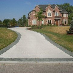 Driveway With California Finish