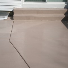 Patio With Colored Sealer