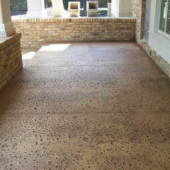 Rock Salt Texture Stamped Concrete